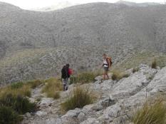 descenso al Coll de ses Fontanelles