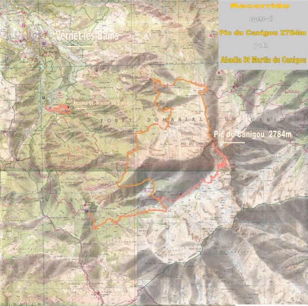mapa topographique MASSIF DU CANIGOU TOP 25 2349ET