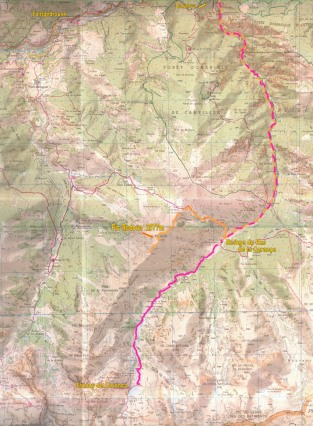 carte topographique TOP25 1:25.000 BOURG-MADAME MONT-LOUIS Coll de la Perche 2250 ET