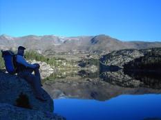 Rafael, en el lago la Coumasse 2160m