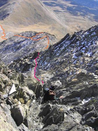 el duro descenso