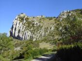 vista del castillo Roquefixade