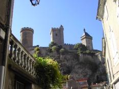 Castillo de FOIX, Vista desde la ciudad