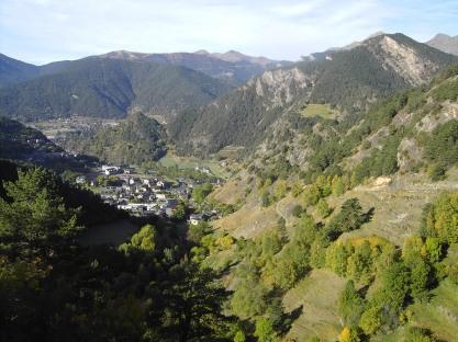 Ordina, vista desde la vía ferrata