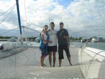 Violeta, Javier y Rafa