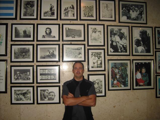 Fotos con el Che y Fidel