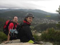 Ángel y Rafa en el Puig d´en Corso