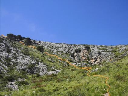 descenso desde el Coll