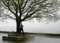 Rafa bajo la lluvia