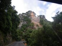 derrumbe de la montaña