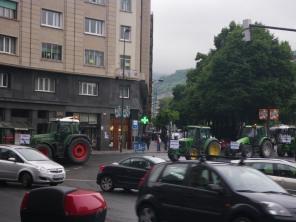 Manifestación tractorada