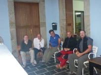 con peregrinos españoles