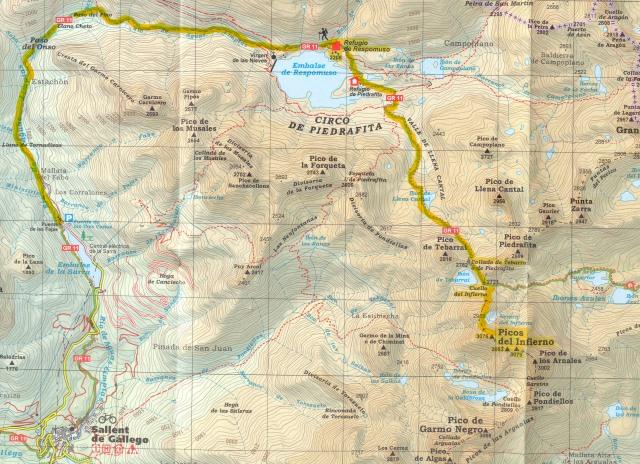 mapa Picos del Infierno
