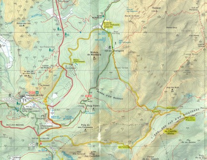 mapa excursión