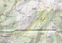 mapa de la excursión