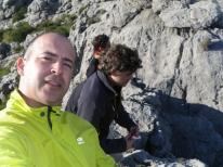Yo, Rafa, con Adolfo y Marcos