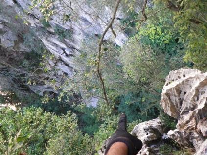unos 50m. ahí abajo.