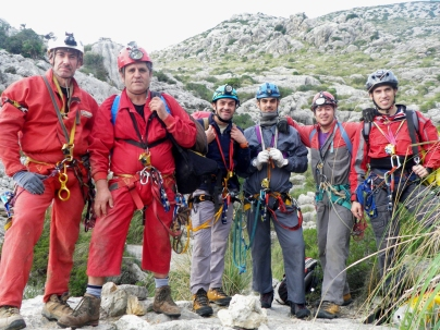 el equipo:J.Vicente, J.Bermejo, Antº José, Josemi, Rafa y Guillem