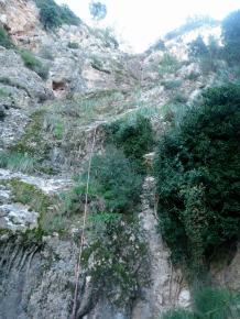 La gran cascada sin agua