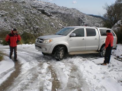 Camino de Miner helado, peligro...