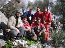 Atrás:Félix,Marcos, Rafael, delante: Josemi, Antonio y Tomás