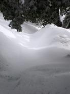 Medio metro de nieve