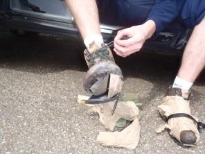 Embalando el calzado