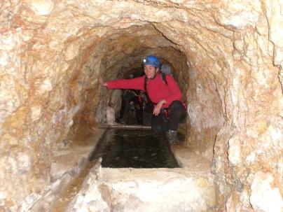 entrada de la mina
