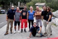 Rafael, F. Soto, R.López,Pilar,Antº José,Adolfo,Erika y abajo Félix. El equipo