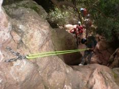 disfrutando del descenso