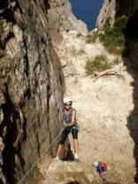 Chica Argelina en descenso