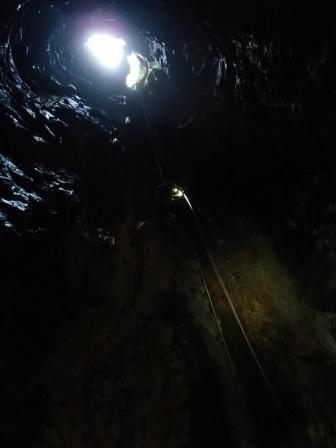 imagen desde el interior del pozo