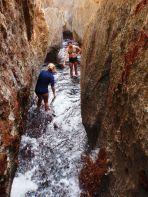 disfrutando del agua y del recorrido