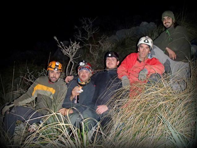 Paco, Rafael y su bocata, Javier, José Vicente y Josemi
