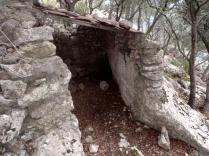 refugio, aprovechando pared-de-roca