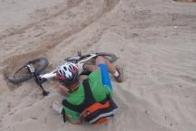Vicente en su rápido descenso para
