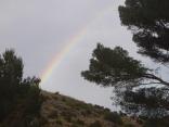 nos pilló la lluvia, ahí el arco iris