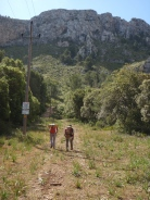 en ruta, Antº José Tarazaga, J.Vicente Pardo y un servidor, Rafael Minguillón