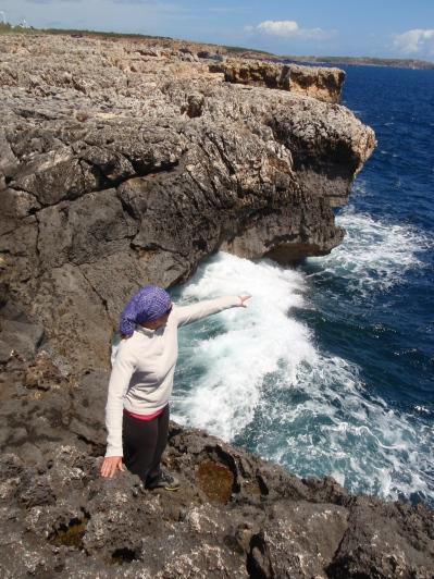 mar bravía en la costa