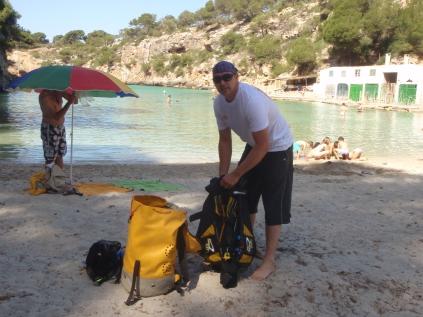 Limpieza fondo marino Cala Pi