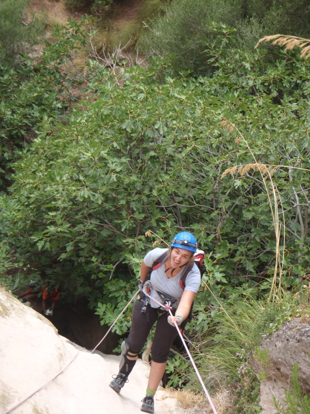 descendiendo rappel de 30m