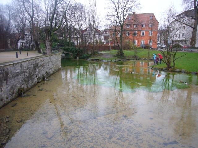 nacimiento del río Pader, el más corto de alemania