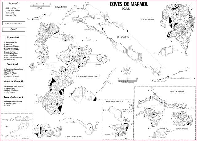 topografía COVES-DE-MARMOL