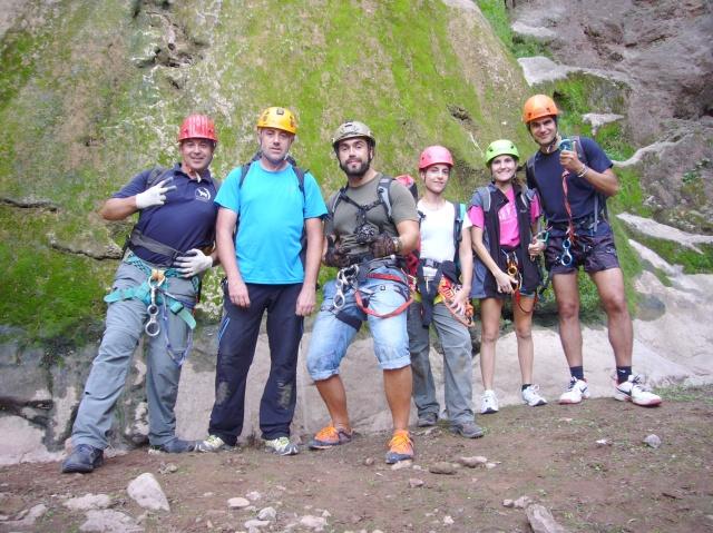 Rafael, Pau, Gabriel, Marina, Xisca y kIke