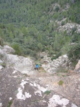 Vista del primer gran descenso.