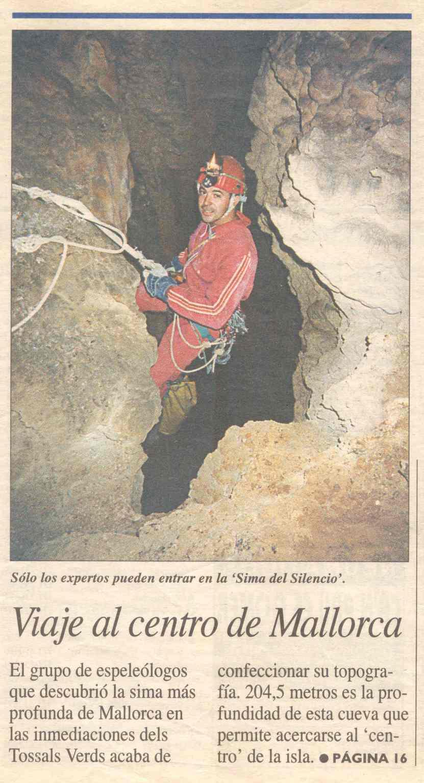 Prensa sima del Silencio, -230m . Rafael Minguillón