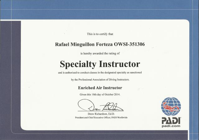 Specialty Instructor