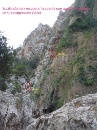 Los valientes escaladores.