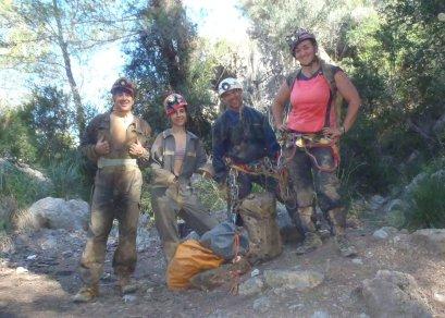 Los Boys-Girls Rafael, Marina, Félix y Pilar.