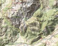 Mapa camino Puig de Gironella. Rafael Minguillón. BTTersMallorca